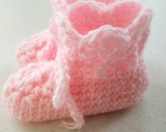 Crochet Booties, Crocheted Baby Booties, Handmade Baby Booties. Baby Shower Gift - Made To Order