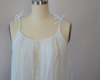 pale blue and cream lace nightie vintage