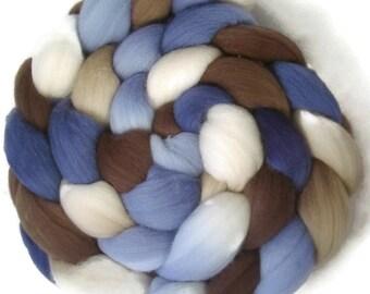 Handpainted Targhee Wool Roving - 4 oz. SANDPIPER- Spinning Fiber
