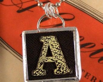 Letter A Initial Pendant Necklace