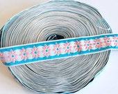 Vintage jacquard ribbon per metre