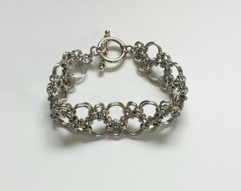 Silver Hodo Chainmaille Bracelet