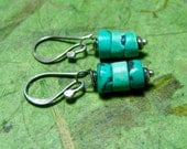 Turquoise Flats - Turquoise and Sterling Silver Earrings