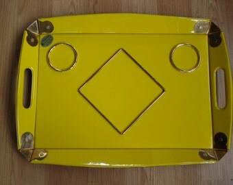 Vintage 1960s Bed Tray Yellow Breakfast in Bed Serving Tray 2013450