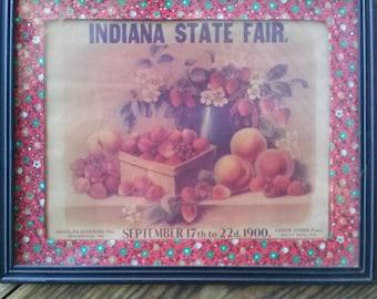Vintage 1960s Indiana State Fair Print Calendar Art 2012138