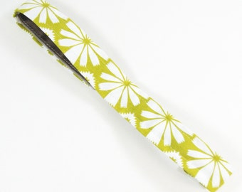 No Slip Athletic Headband - Narrow - Modern Chartreuse Floral