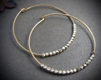 starlight ... mixed metal hoops