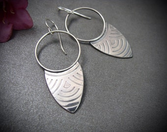 deco points ... sterling silver dangles