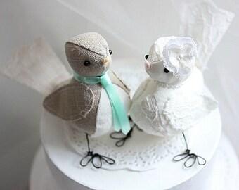 Wedding cake topper birds - Bird cake topper  - Wedding cake topper love birds - CUSTOM ORDER