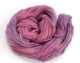 Purple DK wool, hand dyed double knitting organic merino silk, light worsted crochet yarn skein, Perran Yarns Blackcurrant Sorbet, uk seller