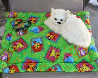 Cat Bed, Cat Blanket, Cat Mat, Travel Pet Mat, Crate Mat, Mat With Catnip Toy, Colorado Catnip, Washable Cat Bed, Luxury Cat Bed, Pet Mat