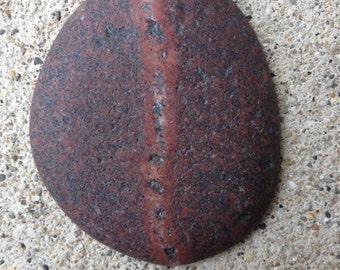 beach stone, granite, unpolished cabochon, found stone
