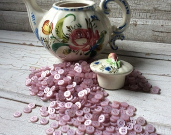 Buttons purple-pink lot of 75