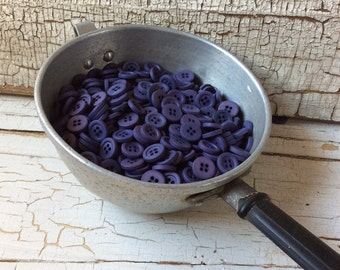 Dark Violet Shirt Button/Vintage Seventies/Lot of 50