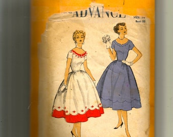 Advance Misses' Dress Pattern 6649