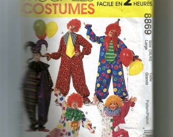 McCall's Clown Costumes Pattern 8869