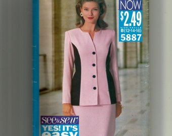 Butterick Misses' /Miss Petite Top and Skirt Pattern 5887