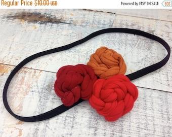 40% FLASH SALE- T-Shirt Bloom Headband-Fire-Eco Friendly