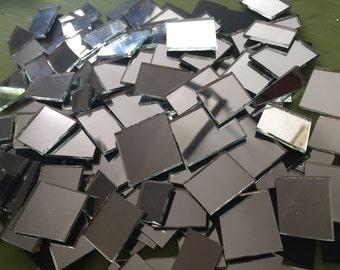 200 Mosaic Tiles Broken Mirror Glass Shapes Thin Shards Pieces Tesserae 200