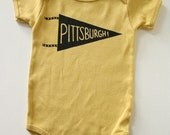 Pittsburgh Pennant Baby One Piece bodysuit
