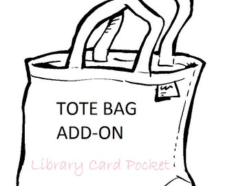 TOTE ADD ON -- Library Card Pocket