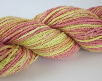 100g Sunrise Red Yellow Space-Dyed DK Cotton Yarn