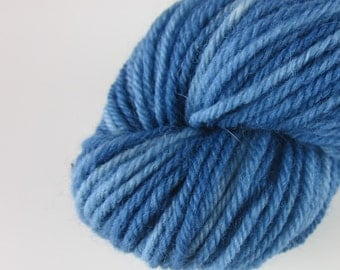 50g Indigo Blue Space Dyed DK Wool Yarn