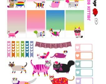 Love Is Love: Gay Pride Kitties Planner Printables for the Happy Planner! MAMBI