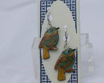 Colorful Chickadee earrings