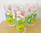 MEMORIAL DAY SALE 3 vintage trumpet flower glasses