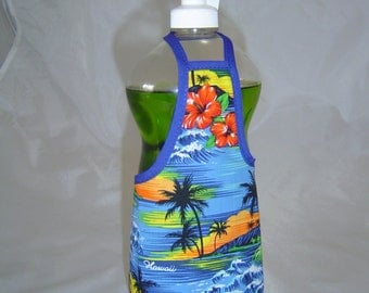 Hawaii Hibiscus Palm Decor Dish Soap Apron Bottle Cover Wrap Staffer Party Favor Lg