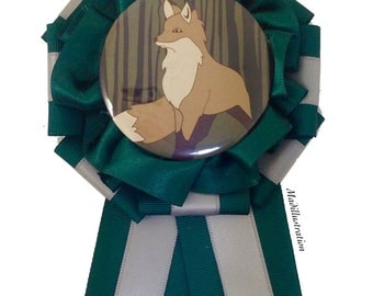 Fox Rosette Green x Silver