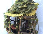Forest Whimsy Fairy House two level OOAK Waldorf friendly nature woodland dollhouse gnome fairies