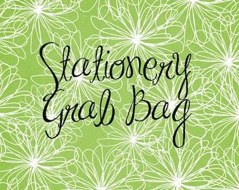 Stationery Grab Bag, miscellaneous single stationery sheets and envelopes, destash, over runs, samples