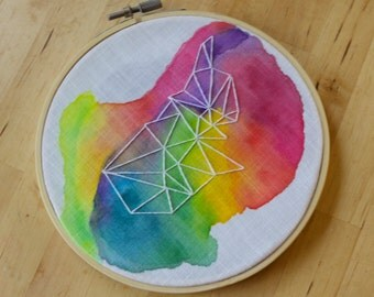 "6"" Hoop Art, Watercolor Embroidery 001"