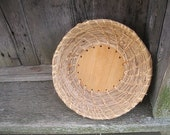 SEAGRASS BASKET  hand coiled natural BOWL