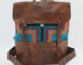 SALE! Joey Backpack in Saddle Blanket- Turquoise Cross