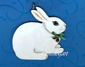 RESERVED Australian Shepherd, Golden & White Rabbit