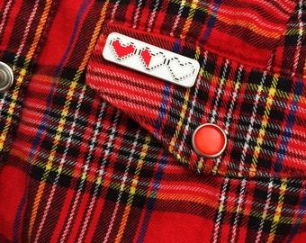 Heart Container Enamel Pin Badge - Zelda Pin - Geek Badge - Lapel Pin