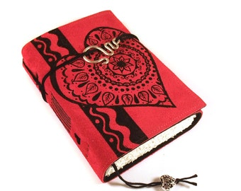 Bohemian Heart, handmade Leather Journal