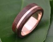 Rose Gold Solsticio Nacascolo Wood Ring