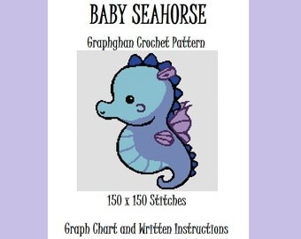 Baby Seahorse - Graphghan Crochet Pattern