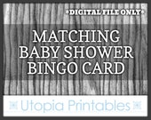 Matching Baby Shower Bingo Card