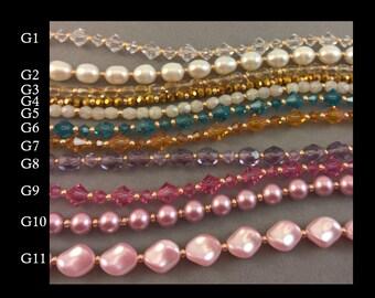 Gold Build Your Own Bracelet, 3 strands