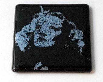 Marlene Dietrich Fused Glass Coaster