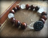 Mozambique Quartz and Tiger Eye Bracelet
