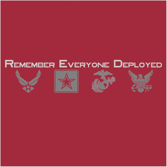 Remember Everyone Deployed RED Unisex T-shirt
