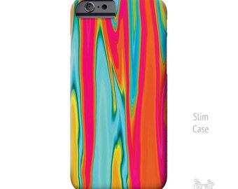 Surf, iPhone 7 Case, artsy iPhone case, Turquoise and red, iPhone 7 plus case, iPhone 6 case, iPhone 6S case, iphone 6 plus case, phone case