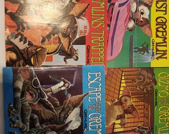 Vintage Gremlins Books with Records