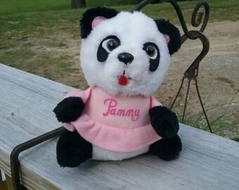 Shirt tales pammy stuffed panda from 1981 hallmark